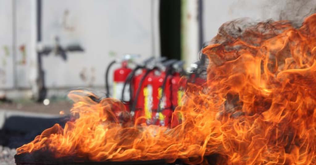 Trainen voor brandbestrijding